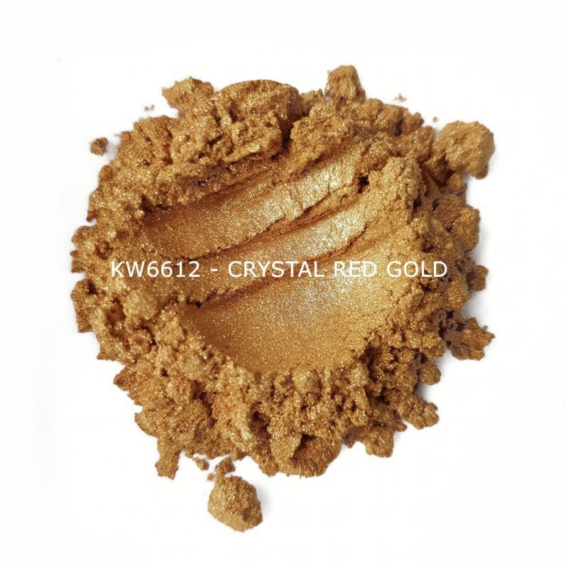 Индустриальный пигмент KW6612 Crystal Red Gold (Золотой), 10-60 мкм
