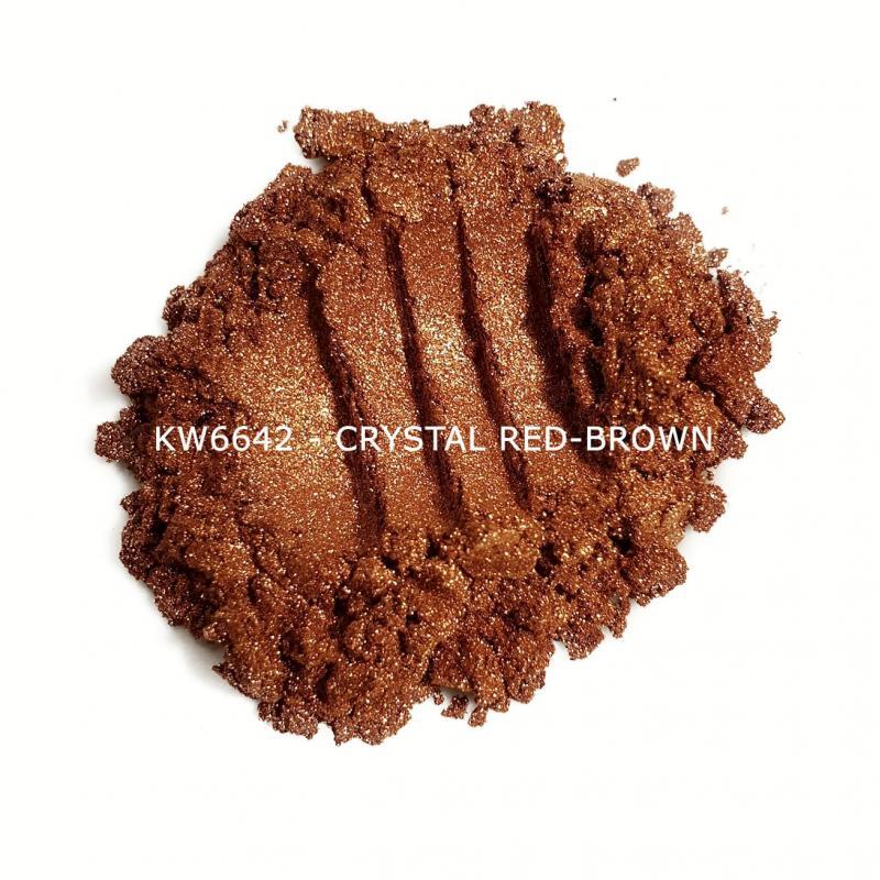 Индустриальный пигмент KW6642 Crystal Red-brown (Красно-коричневый), 10-60 мкм