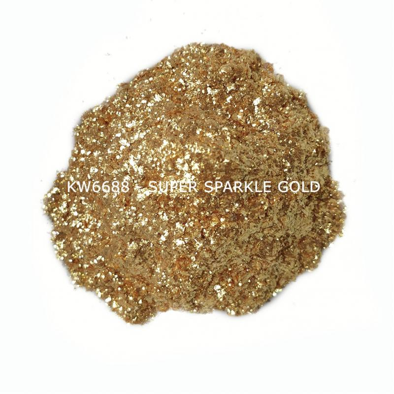 Индустриальный пигмент KW6688 Super Sparkle Gold (Золотой), 200-700 мкм