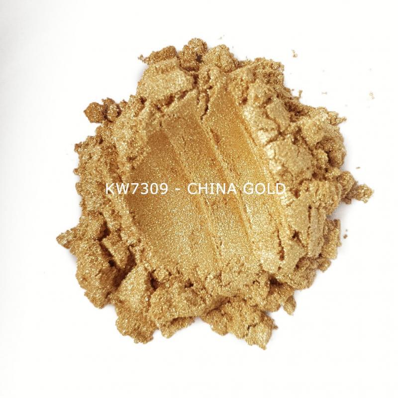 Индустриальный пигмент KW7309 China Gold (Золотой), 10-60 мкм