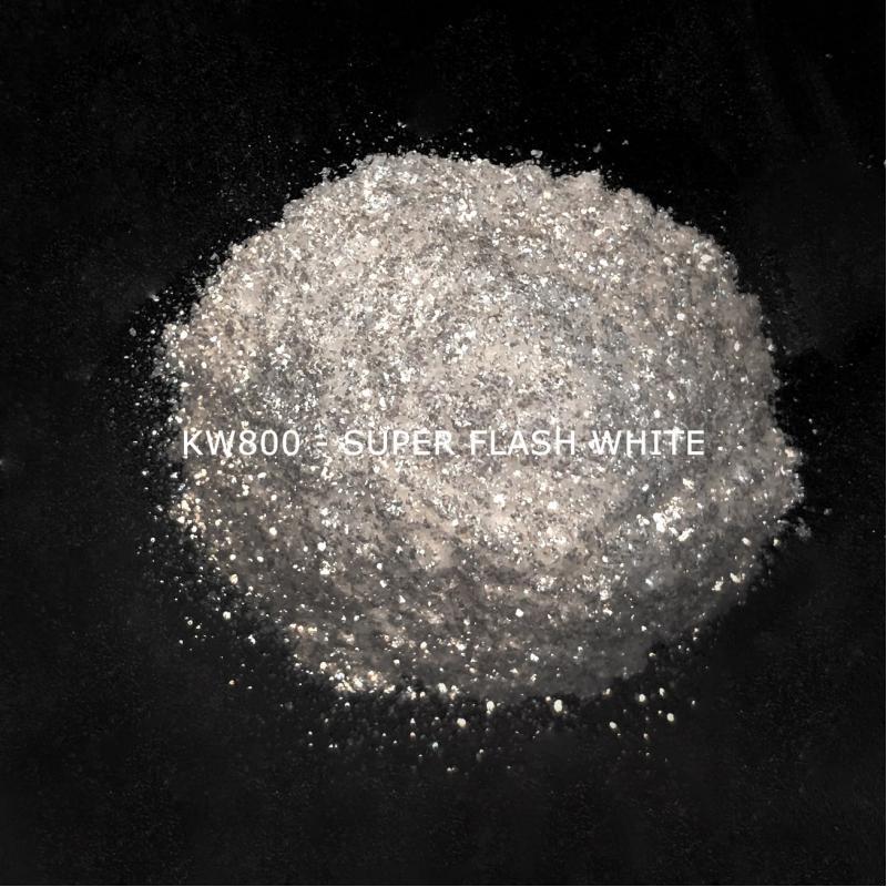 Индустриальный пигмент KW800 Super Flash White (Серебристо-белый), 60-350 мкм