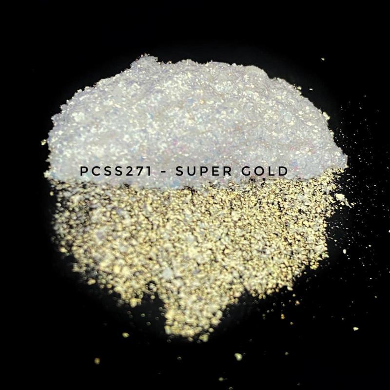Косметический пигмент PCSS271 Super Gold (Супер золотой), 200-700 мкм