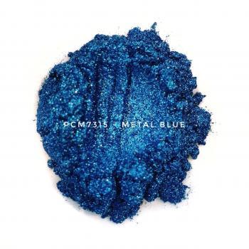 Алюминиевый цветной пигмент PCM7325 - Металлический голубой, 30-60 мкм (Metal light blue)